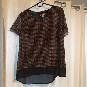 Micheal Kors patterned dress shirt